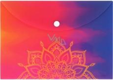 Albi Original Pouzdro na dokumenty Mandala na duhovém A5 - 148 x 210 mm