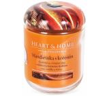 Heart & Home Mandarinka s kořením Sojová vonná svíčka střední hoří až 30 hodin 115 g