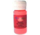 Art e Miss Barva na textil svítící - svítí ve tmě, na světlé materiály 74 neon červená 40 g