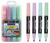 Centropem Highlighter Flexi Soft zvýrazňovač pastelové odstíny 4 kusy v etui