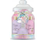 Baylis & Harding Jednorožec sprchový krém 100 ml + mycí gel 100 ml + tělové mléko 30 ml + šumivý balistik do koupele 40 g + žínka + dóza, kosmetická sada