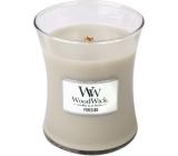 WoodWick Fireside - Oheň v krbu vonná svíčka s dřevěným knotem a víčkem sklo střední 275 g