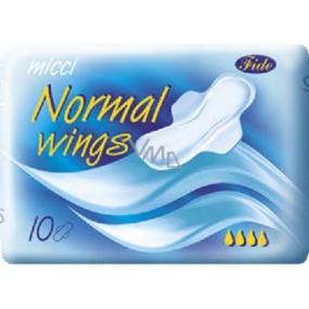 Micci Normal Wing intimní vložky s křidélky 10 kusů