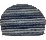 Etue Látková tmavě modro-bílý proužek 20 x 12,5 x 6 cm 70490