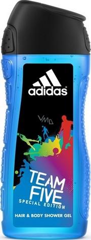 Adidas Team Five 2v1 sprchový gel na tělo a vlasypro muže 400 ml