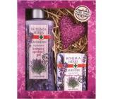 Bohemia Gifts & Cosmetics Lavender krémový sprchový gel 250 ml + mýdlo 100 g + patchwork různé motivy, kosmetická sada