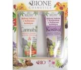 Bione Cosmetics Kostival & Kaštan koňský bylinný balzám 300 ml + Cannabis bylinný balzám s kaštanem koňským 300 ml, kosmetická sada