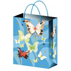 Taška Dárková celoroční světle modrá s motýlky S 15 x 12 x 5,5 cm