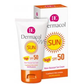 Dermacol Sun Water Resistant Cream SPF50 voděodolný ochranný krém na opalování 50 ml