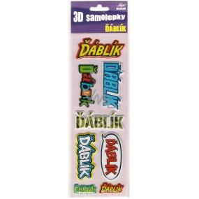 Nekupto 3D Samolepky se jménem Ďáblík 8 kusů 002