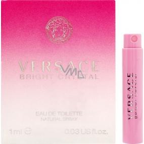 Versace Bright Crystal toaletní voda pro ženy 1 ml s rozprašovačem, Vialka