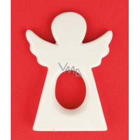 Anděl keramický figurka silueta 11 cm