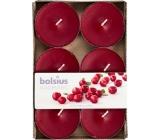Bolsius Aromatic Maxi Wild Cranberry s vůní brusinek vonné čajové svíčky 6 kusů