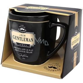 Nekupto Liga Pravých Gentlemanů hrnek v krabičce, Jsem GENTLEMAN , protože svět je plný obyčejných chlapů, 7,5 x 9 cm