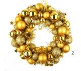 Věnec zlaté baňky 28 cm