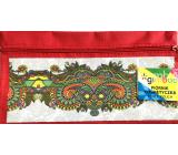 Donau Gimboo školní pouzdro se zipem ornamenty červené 22 x 12 cm