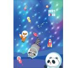 Albi Diář 2021 - 2022 svítící studentský Vesmír 14,7 cm x 20,8 cm x 1,5 cm