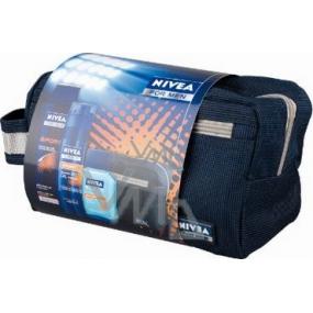 Nivea Kazsport gel na holení 200 ml + voda po holení 100 ml + šampon 250 ml taška,pro muže kosmetická sada