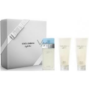 Dolce & Gabbana Light Blue toaletní voda pro ženy 100 ml + sprchový gel 100 ml + tělový krém 100 ml, dárková sada