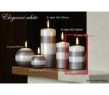 Lima Elegance White svíčka světle hnědá válec 60 x 90 mm 1 kus