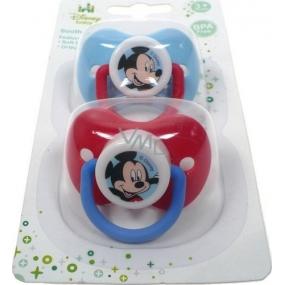Disney Mickey Mouse Baby šidítko silikonové anatomické 3+ 2 kusy