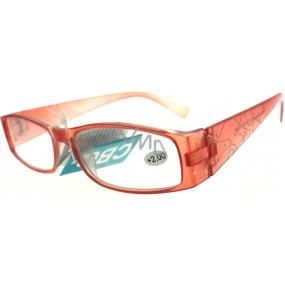Berkeley Čtecí dioptrické brýle +2,0 červené plastové 1 kus ER533