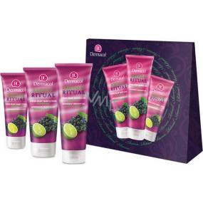 Dermacol Aroma Ritual Hrozny s limetkou krém na ruce 100 ml + sprchový gel 250 ml + tělové mléko 200 ml, kosmetická sada