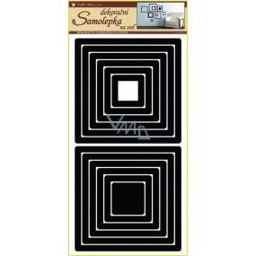 Room Decor Samolepky na zeď čtverce černé 2 sady 69 x 32 cm