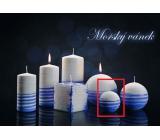 Lima Aromatická spirála Mořský vánek svíčka bílo - modrá koule průměr 60 mm 1 kus