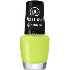Dermacol Neon Polish Neonový lak na nehty 21 Rio 5 ml