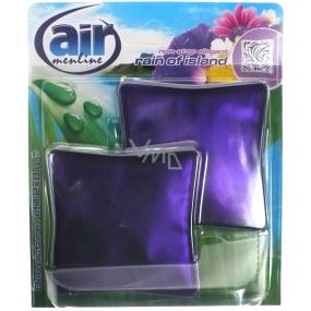 Air Menline Deo Picture Non Stop Elegant Rain of Island gelový osvěžovač vzduchu náhradní náplň 2 x 8 g