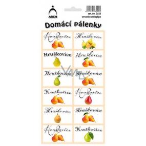 Arch Samolepky Domácí pálenky Hruškovice 3523 12 etiket