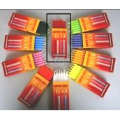 Dortové svíčky Červená 95 x 8 mm 12 kusů