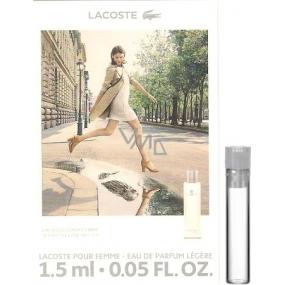 Lacoste pour Femme Legere parfémovaná voda 1,5 ml, Vialka