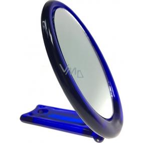 Zrcátko s rukojetí oválné modré 12 x 9,5 cm 60190