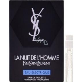 Yves Saint Laurent La Nuit de L Homme Eau Electrique toaletní voda pro muže 1,2 ml s rozprašovačem, vialka