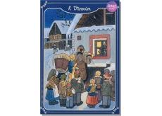 Albi Hrací přání do obálky K Vánocům Lada Štestí, zdraví, pokoj svatý 15 x 21 cm