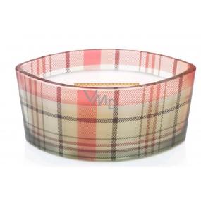 WoodWick White Tea & Jasmine - Bílý čaj a Jasmín vonná svíčka s dřevěným širokým knotem a víčkem sklo loď 453 g Holiday loď/ limited 2018