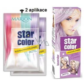 Marion Star Color smývatelná barva na vlasy Pastel Lavender - Levandulová 2 x 35 ml