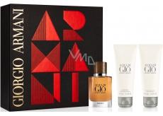 Giorgio Armani Acqua di Gio Absolu parfémovaná voda pro muže 40 ml + sprchový gel 75 ml + balzám po holení 75 ml, dárková sada
