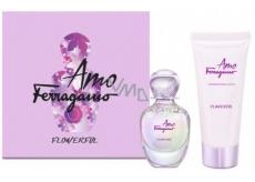 Salvatore Ferragamo Amo Ferragamo Flowerful toaletní voda pro ženy 50 ml + tělové mléko 100 ml, dárková sada