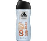 Adidas Total Relax 3v1 sprchový gel na tělo, tvář a vlasy pro muže 250 ml