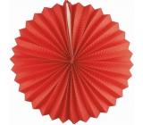Lampion kulatý červený 25 cm