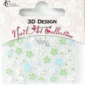 Absolute Cosmetics Nail Art 3D nálepky na nehty 24906 1 aršík