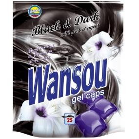 Wansou Black & Dark koncentrované gelové prací kapsle na černé a tmavé prádlo 25 kusů