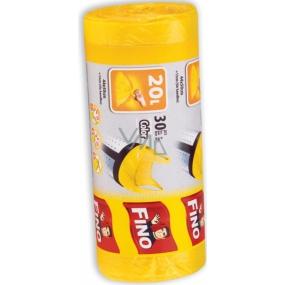 Fino Color sáčky na odpadky s uchy žluté 20 l 44 x 50 cm 15 µm 30 kusů