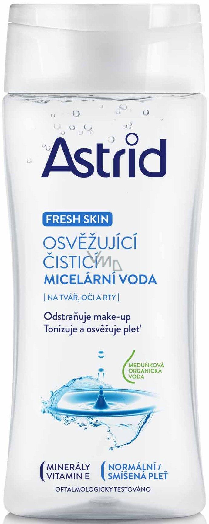 Astrid Fresh Skin Osvěžující čisticí micelární voda pro normální a smíšenou pleť 200 ml