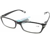 Berkeley Čtecí dioptrické brýle +1,0 plastové černé 1 kus MC2088