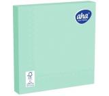Aha Papírové ubrousky jednobarevné 3 vrstvé 33 x 33 cm 20 kusů zelené