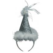 Klobouček s labutěnkou stříbrný, čelenka